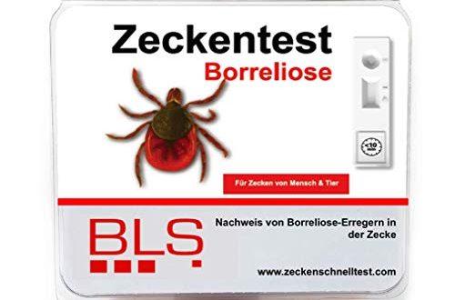 Zeckentest Borreliose 5er Sparpaket - Zecke in 10 Minuten auf Borreliose testen - Zeckenschnelltest für Zuhause