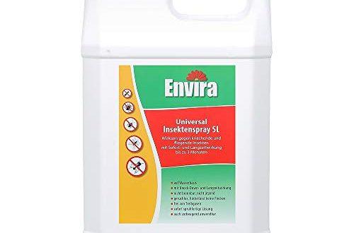 Envira Universal Insektenspray Insektizid Mit Langzeitwirkung Insektenschutz Auf 500x330 - Envira Universal Insektenspray - Insektizid Mit Langzeitwirkung - Insektenschutz Auf Wasserbasis, Geruchlos - 5 Liter
